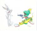 Animation Art:Production Drawing, Virgil Ross Haredevil Hare Inspired Bugs Bunny and Marvinthe Martian Illustration (Warner Brothers, undated)....