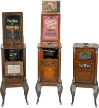 """""""Cail-O-Scope"""" Nickelodeon Viewing Machine Group of 3 (1904).... (Total: 3 Items)"""