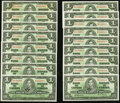 Canadian Currency: , BC-21c $1 1937 100 Consecutive Examples.. ... (Total: 100 notes)