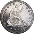 Proof Seated Quarters, 1873 25C Arrows PR64 PCGS. CAC. Briggs 5-D....