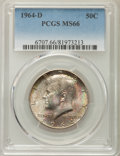 Kennedy Half Dollars, 1964-D 50C MS66 PCGS. PCGS Population: (723/52). NGC Census:(425/14). Mintage 156,205,440. ...