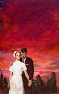 Original Comic Art:Covers, Settlement-House Nurse Paperback Novel Cover PaintingOriginal Art (Signet, 1965)....