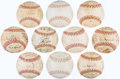 Autographs:Letters, Lot of 10 Team Signed Baseball from the Ken Aspromonte Collection....