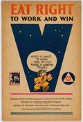 Golden Age (1938-1955):Non-Fiction, Eat Right to Work and Win #nn (King Features/Office of DefenseHealth and Welfare Services, 1942) Condition: GD/VG....