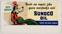 Goofy Sunoco Oil Ink Blotter #A-702 Unused (Sunoco/Walt Disney, 1941)
