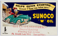 Donald Duck Sunoco Oil Ink Blotter #A-952 Unused (Sunoco/Walt Disney, 1942)