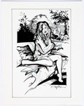 Original Comic Art:Splash Pages, R. G. Taylor - Relaxing Female Pin-Up Illustrations Original ArtGroup of 2 (undated).... (Total: 2 Original Art)