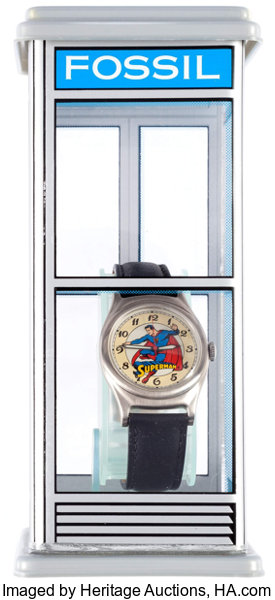 Superman fossil wrist watch in telephone booth boxbank lot 11666 memorabiliacomic related superman fossil wrist watch in telephone booth boxbank freerunsca Choice Image