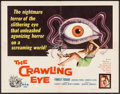 "Movie Posters:Science Fiction, The Crawling Eye (DCA, 1958). Half Sheet (22"" X 28""). ScienceFiction.. ..."