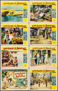 "Movie Posters:Adventure, Love Slaves of the Amazons (Universal International, 1957). LobbyCard Set of 8 (11"" X 14""). Adventure.. ... (Total: 8 Items)"