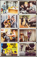 """Movie Posters:Action, One Spy Too Many (MGM, 1966). International Lobby Card Set of 8 (11"""" X 14"""") & Uncut Pressbook (8 Pages, 12"""" X 17""""). Action.... (Total: 9 Items)"""