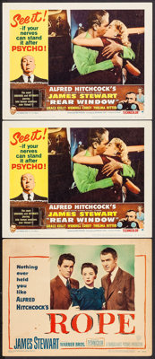 "Rope & Other Lot (Warner Brothers, 1948). Lobby Cards (3) (11"" X 14""). Hitchcock. ... (Total: 3 Items)"