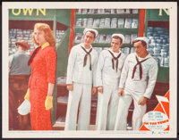 "On the Town (MGM, 1949). Lobby Card (11"" X 14""). Musical"