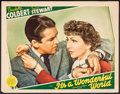 """Movie Posters:Comedy, It's a Wonderful World (MGM, 1939). Lobby Card (11"""" X 14""""). Comedy.. ..."""