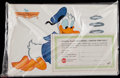 Miscellaneous Collectibles:General, 1964 Walt Disney Donald Duck and Mickey Mouse Placemats (4) -Sealed Set....