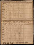 Baseball Collectibles:Others, 1892 Boston Beaneaters vs. Brooklyn Grooms Scorecard. ...
