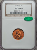 Lincoln, 1946-S 1C MS67 Red NGC. CAC. ...