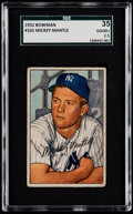 Baseball Cards:Singles (1950-1959), 1952 Bowman Mickey Mantle #101 SGC 35 Good+ 2.5....