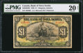 Canadian Currency: , Kingston, Jamaica- The Bank of Nova Scotia 1 Pound Jan. 2, 1930 Ch.# 550-38-04-04.. ...