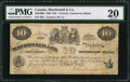 Canadian Currency: , Victoria, VI- Macdonald & Co. $10 Sept. 6, 1863 Ch. #420-10-06.. ...