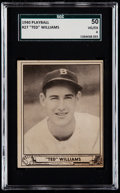 Baseball Cards:Singles (1940-1949), 1940 Play Ball Ted Williams #27 SGC 50 VG/EX 4....