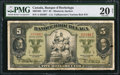 Canadian Currency: , Montreal, PQ- Banque D'Hochelaga $5 Jan. 2,1917 Ch. # 360-24-02.....