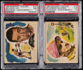 "Boxing Cards:General, 1965 Bancroft Tiddlers ""Giants of Sports"" Joe Louis & SirGordon Richards PSA Graded Pair (2)...."