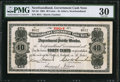 Canadian Currency: , St. John's NF- Newfoundland Government Cash Note 40 Cents 1904 Ch.# NF-2d.. ...