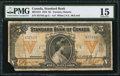 Canadian Currency: , Toronto, ON- Standard Bank of Canada $5 Jan. 2, 1919 Ch # 695-18-12. ...