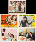 "Movie Posters:Sports, The Babe Ruth Story & Others Lot (Allied Artists, 1948). Lobby Cards (4) & Title Lobby Card (11"" X 14""). Sports.. ... (Total: 5 Items)"