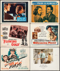 "Movie Posters:War, Destination Tokyo & Others Lot (Warner Brothers, 1943). TitleLobby Cards (2) & Lobby Cards (4) (11"" X 14""). War.. ...(Total: 6 Items)"