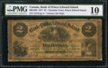 Canadian Currency: , Charlotte Town, PEI- The Bank of Prince Edward Island $2 Jan. 1,1877 Ch. # 600-12-08.. ...