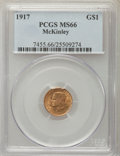 Commemorative Gold, 1917 G$1 McKinley Gold Dollar MS66 PCGS....