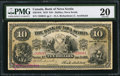 Canadian Currency: , Halifax, NS- Bank of Nova Scotia $10 Jan. 2, 1919 Ch. # 550-18-16.....