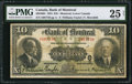 Canadian Currency: , Montreal, PQ- The Bank of Montreal $10 Jan. 2, 1923 Ch. #505-56-04.. ...