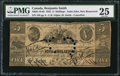 Canadian Currency: , Saint John, New Brunswick- Benjamin Smith 5 Shillings June 4, 1835Ch. # 25-10-02.. ...