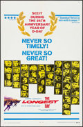 """Movie Posters:War, The Longest Day (20th Century Fox, R-1969). One Sheet (27"""" X 41"""")& Lobby Card Set of 8 (11"""" X 14""""). War.. ... (Total: 9 Items)"""