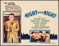 "Night After Night (Paramount, 1932). Lobby Card (11"" X 14""). Drama"