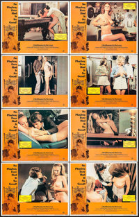 """5 Bed Bunnies on the Loose (Harnell Independent Productions, 1974). Lobby Card Set of 8 (11"""" X 14""""). Sexploita..."""