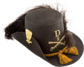 "Militaria:Uniforms, Superb Civil War M1858 Cavalryman's ""Hardee"" Hat...."