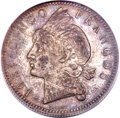 Dominican Republic, Dominican Republic: Republic 5 Francos 1891-A MS63 PCGS,...