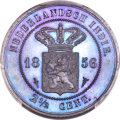 Netherlands East Indies, Netherlands East Indies: Dutch Colony. Willem III Proof 2-1/2 Cents1856 PR66 Brown PCGS,...