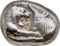 Ancients:Greek, Ancients: LYDIAN KINGDOM. Croesus (ca. 561-546 BC). AR stater or double siglos (19mm, 10.52 gm). NGC Choice VF 5/5 - 3/5....