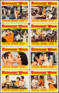 "Movie Posters:Adventure, Elephant Walk (Paramount, 1954). Lobby Card Set of 8 (11"" X 14"").Adventure.. ... (Total: 8 Items)"