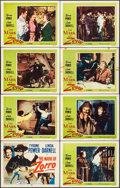 "Movie Posters:Swashbuckler, The Mark of Zorro (20th Century Fox, R-1958). Lobby Card Set of 8 (11"" X 14""). Swashbuckler.. ... (Total: 8 Items)"