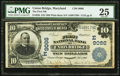 National Bank Notes:Maryland, Union Bridge, MD - $10 1902 Plain Back Fr. 626 The First NB Ch. #(E)9066. ...
