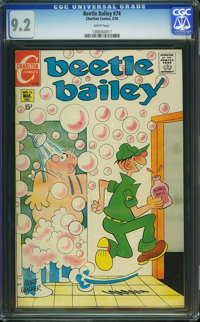 Beetle Bailey #74 (Charlton, 1970) CGC NM- 9.2 White pages