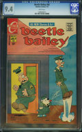 Bronze Age (1970-1979):Humor, Beetle Bailey #82 (Charlton, 1971) CGC NM 9.4 White pages.