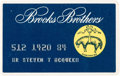 Movie/TV Memorabilia:Memorabilia, A Steve McQueen 'Brooks Brothers' Credit Card....