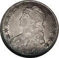 Bust Half Dollars: , 1828 50C Square Base 2, Small 8, Small Letters AU58 NGC. O-119,R.3. A lovely, original example of this scarcer variety, th...